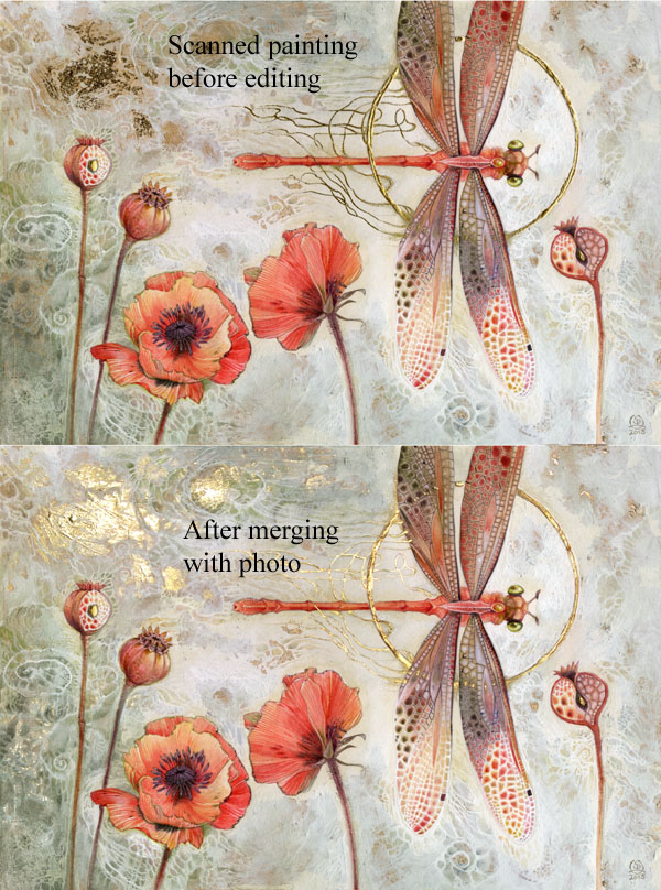 Damselfly from the Insecta Series of watercolor paintings by Stephanie Law