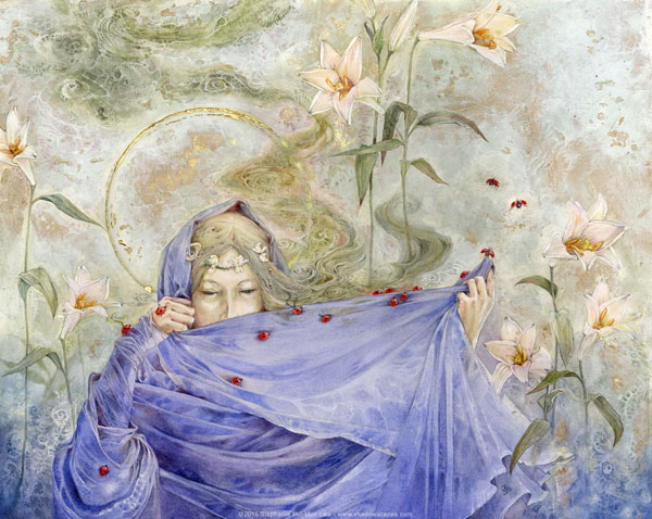 Her Sorrows and Her Joys, watercolor painting by Stephanie Law